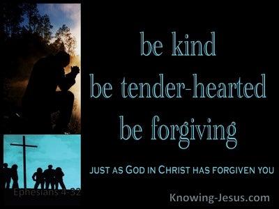 Ephesians 4:32 Be Kind, Tender:hearted, Forgiving Each Other (aqua)