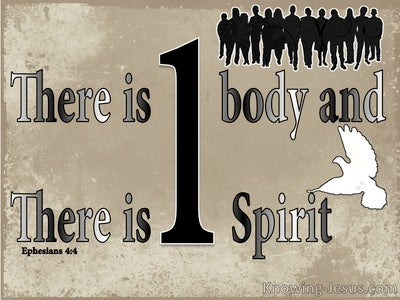 Ephesians 4:4 There Is One Body And One Spirit (beige)