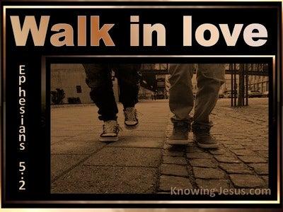 Ephesians 5:2 Walk In Love (gold)