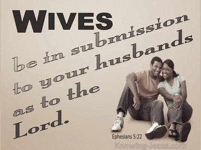 Ephesians 5:22 Wives Submit To Your Own Husbands (gray)