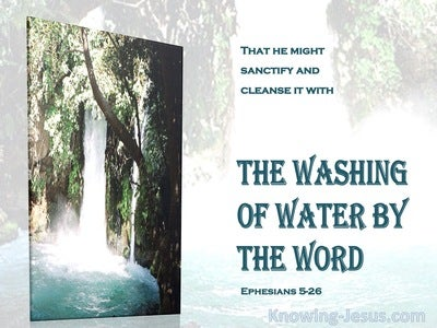 Ephesians 5:26 The Washing of the Water With the Word (aqua)