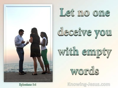 Ephesians 5:6 Dont Be Deceived By Empty Wpords (aqua)