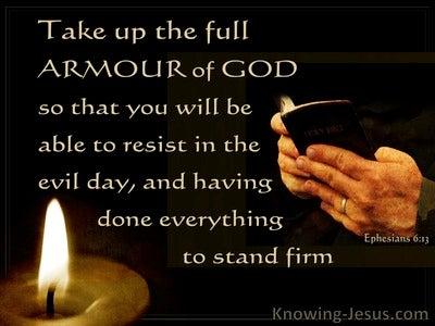 Ephesians 6:13 Put On The Full Armour Of God (black)
