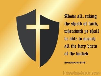 Ephesians 6:16 Take Up The Shield Of Faith (black)
