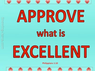 Philippians 1:10 Approve The Things That Are Excellent (aqua)