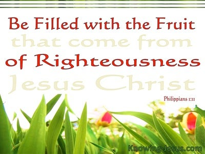 Philippians 1:11 Be Fill With The Fruit Of Righteousness (red)
