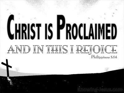 Philippians 1:14 Christ Is Proclaimed (black)