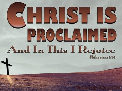 Philippians 1:14 Christ Is Proclaimed (brown)