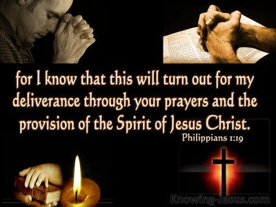 Philippians 1:19 Deliverance Prayer And Christ's Provision (black)