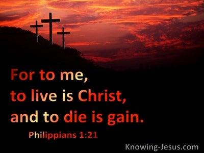 Philippians 1:21 Inspirational Images