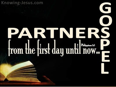 Philippians 1:5 Partners In The Gospel (black)