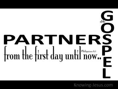 Philippians 1:5 Partners Of The Gospel (black)
