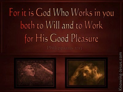 Philippians 2:13 It Is God Who Works In You (brown)
