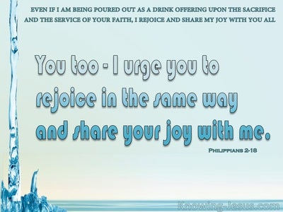 Philippians 2:18 Rejoice And Share My Joy (aqua)
