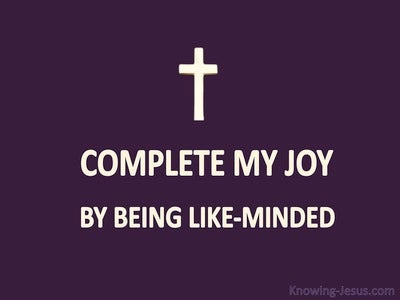 Philippians 2:2 Complete My Joy (purple)