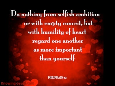 Philippians 2:3 Do Nothing From Selfish Ambition (red)