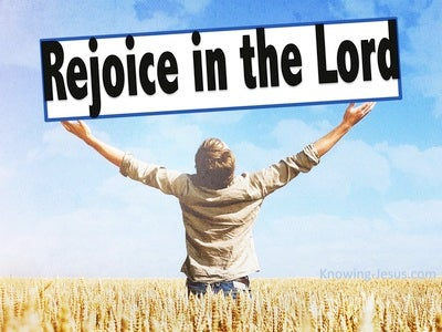 Philippians 3:1 Rejoice In The Lord (black)
