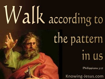 Philippians 3:17 Walk According To The Pattern In Us (black)