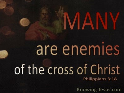 Philippians 3:18 Many Are Enemies of The Cross Of Christ (red)