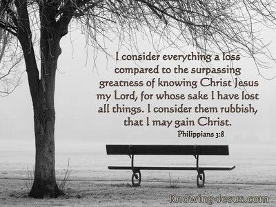 Philippians 3:8 Everything is Loss For The Surpassing Greatness Of Knowing Jesus Christ My Lord (windows)11:14
