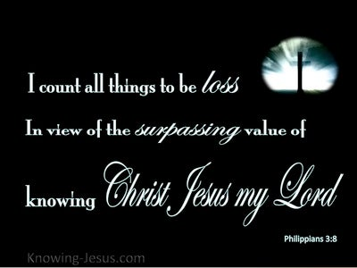 Philippians 3:8 I Count All Things Loss (black)