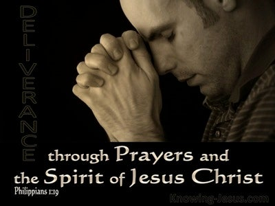 Philippians 1:19 Deliverance Through Prayer And Christ's Provision (black)