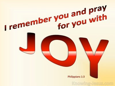 Philippians 1:3 Remember And Pray With Joy (red)