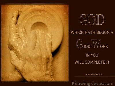 Philippians 1:6 God Began A Good Work (black)