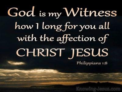 Philippians 1:8 God Is My Witness (black)