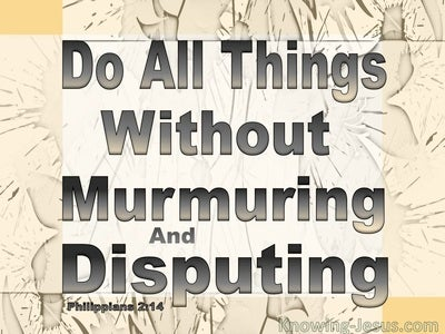 Philippians 2:14 Do All Things Without Disputing (beige)