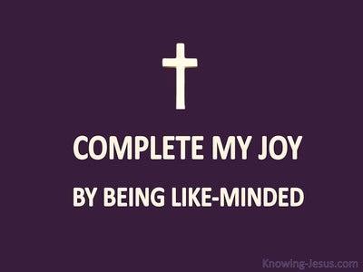 Philippians 2:2 Complete My Joy (purple)