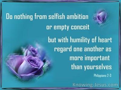 Philippians 2:3 Do Nothing From Selfish Ambition (aqua)
