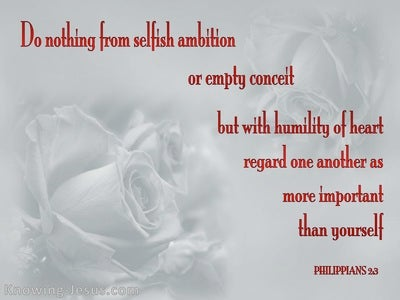 Philippians 2:3 Do Nothing From Selfish Ambition (gray)