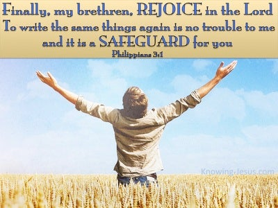 Philippians 3:1 Rejoice In The Lord (blue)