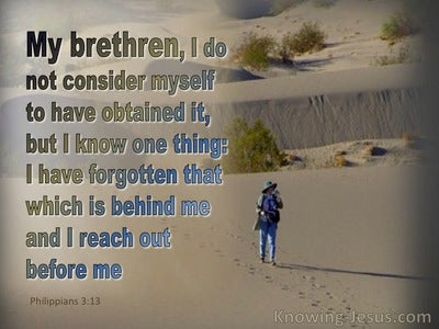 Philippians 3:13 Forgetting The Past I Press On (blue)