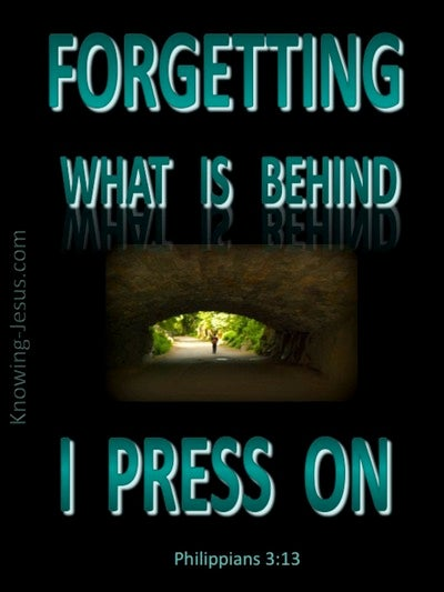 Philippians 3:13 Forgetting What Is Behind (black)