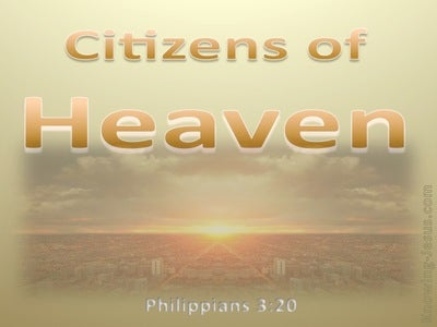 Philippians 3:20 Our Citizenship Is In Heaven (orange)