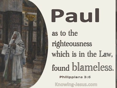 Philippians 3:6 As To Righteousness In The Law Blameless (brown)