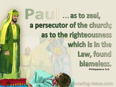 Philippians 3:6 As To Zeal A Persecutor Of The Church (green)