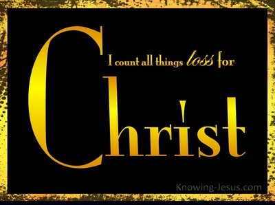Philippians 3:8 All Things Loss For Christ (yellow)