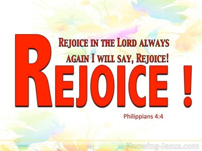 Philippians 4:4 Rejoice In The Lord Always (red)