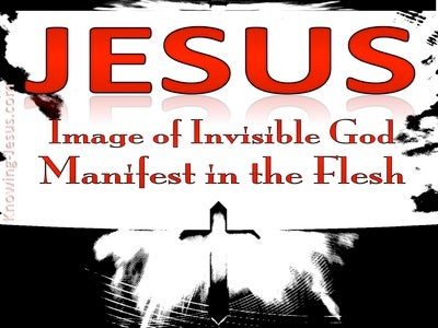 Colossians 1:15 Image Of The Invisible God (red)