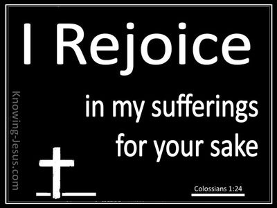 Colossians 1:24 Rejoice in Suffering (white)