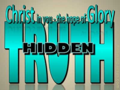 Colossians 1:27 God's Hidden Truths (devotional)09-23 (green)