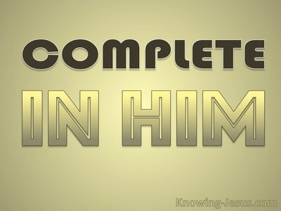 Complete in Him (devotional)