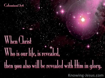 Colossians 3:4 When Christ Is Revealed (pink)