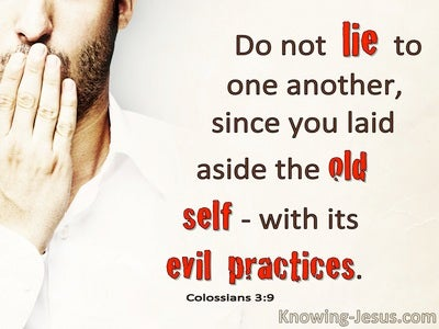 Colossians 3:9 Do Not Lie To One Another (beige)