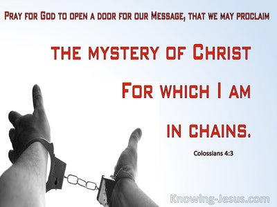 Colossians 4:3 Pray The Mystery Of Christ (red)