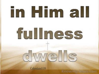 Colossians 1:19 In Him Dwells All Goodness (white)