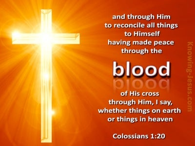 Colossians 1:20 We Have Peace In His Blood (orange)